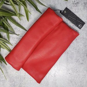 NWT Street Level | Red Foldover Clutch